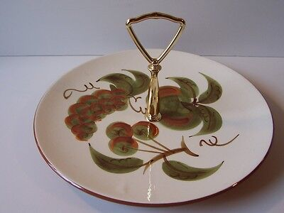 Stangl Orchard Song Tidbit Serving Plate Signed Vintage Retro USA Hand Painted