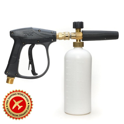 Pressure Snow Foam Washer Jet Car Wash Adjustable Cannon Bottle Lance Soap Spray