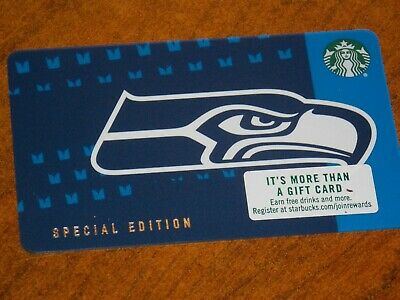 SEATTLE SEAHAWKS Starbucks Gift Card One Each of Pictured Ltd Edition 2018