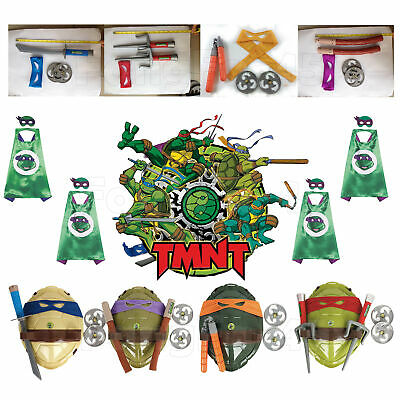 Teenage Mutant Ninja Turtles Role Cloak Arms Weapon Cosplay Shell Kids Gift 2019