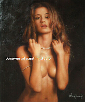 Art prints on canvas from oil painting charming nude girl for wall Decor Giclee