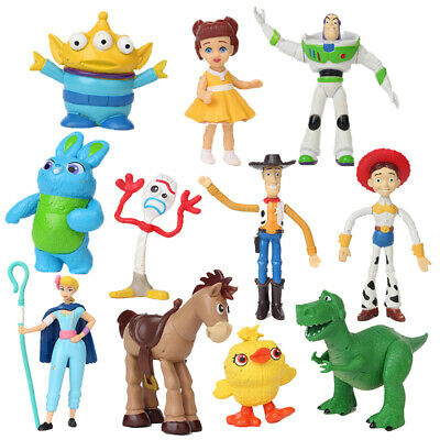 Toy Story 4 Movie Figure Set of 11 With New Character Forky and Bonus Toy Gift