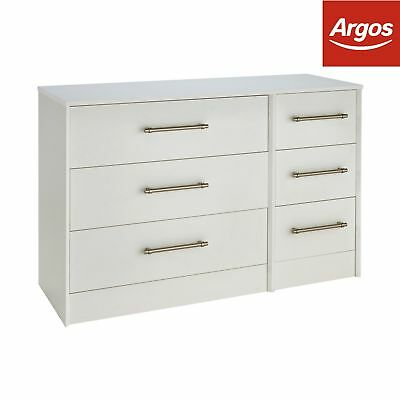 Victoria 3+3 Drawer Chest - White.