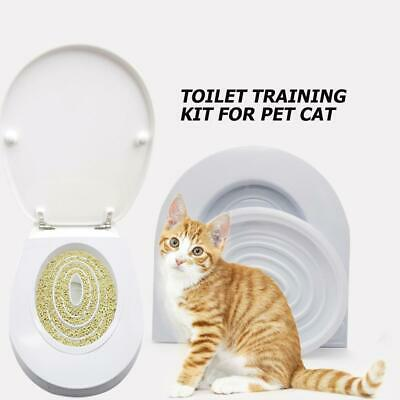 Cat Toilet Seat Training Kit Puppy Litter Potty Tray Pets Cleaning Supplies