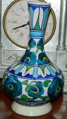 VINTAGE 1970s made in India Pottery Retro Genie Vase