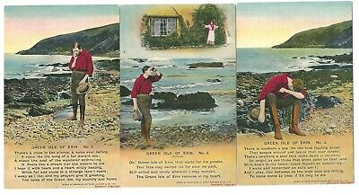 Three Vintage Song Postcards: ''Green Isle of Erin''