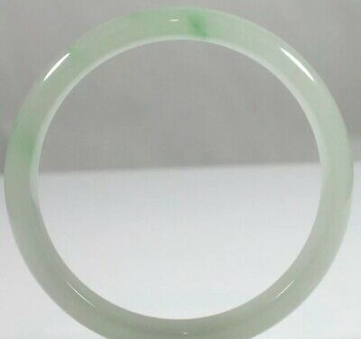 Antique Chinese white Green Jadeite Jade Bracelet Bangle