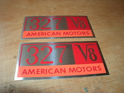 1964 AMC RAMBLER AMERICAN 195.6 195 6 VALVE COVER DECAL