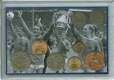 Everton FC (The Toffees) Vintage F.A Cup Final Winners Retro Coin Gift Set 1966
