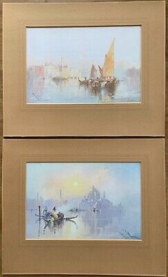 WILLIAM KNOX 2 x EARLY OILETTE PRINTS OF VENICE PUBLISHED by RAPHAEL TUCK LONDON