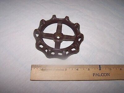 "Cast Iron INDUSTRIAL 4.5"" Faucet VALVE HANDLE  - Steampunk"