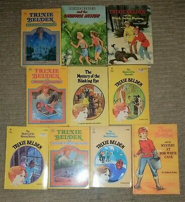 Nice Lot Of 10 Vintage Trixie Belden  Books ~ Wow!