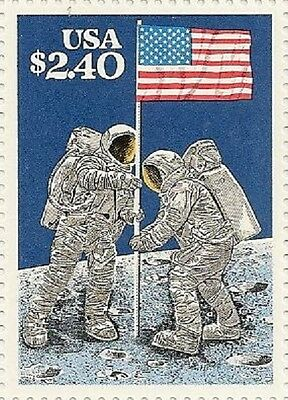 US 2419 Moon Landing $2.4 single MNH 1989