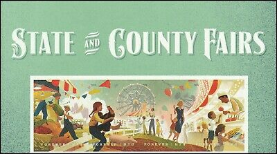 US 5401-5404 5404a State and County Fairs forever header strip set MNH 2019