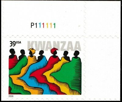 US 4119 Kwanzaa 39c plate single UR MNH 2006