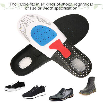 Gel orthotic Insoles Sports Running Inner Soles Cushion Heel Arch Support gym A