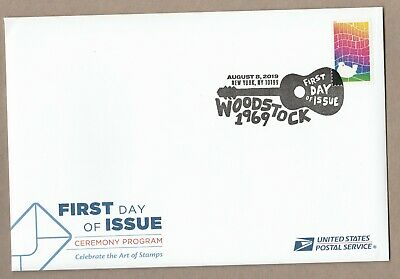 US 5409 Woodstock 50th Anniversary Ceremony Program FDC 2019 after 8/15