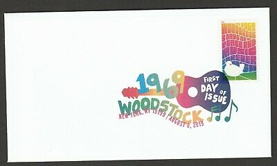 US 5409 Woodstock 50th Anniversary DCP FDC 2019 after 8/15