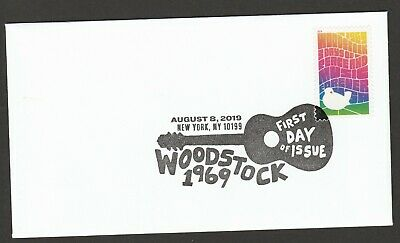 US 5409 Woodstock 50th Anniversary BWP FDC 2019 after 8/15