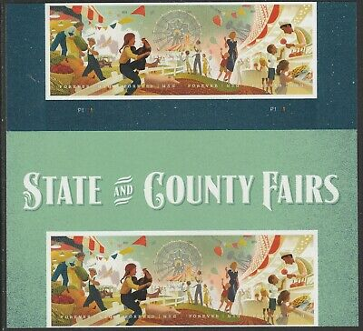 US 5401-5404 5404a State and County Fairs forever header gutter block 8 MNH 2019