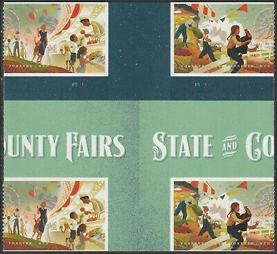 US 5401-5404 5404a State and County Fairs forever cross gutter block 8 MNH 2019