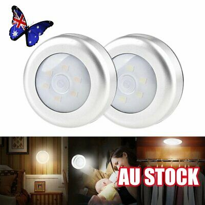 LED Night Light PIR Motion Sensor Infrared Wireless Battery Powered Wall Lamp 6J