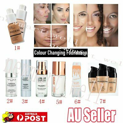 TLM Flawless Color Changing Foundation Makeup Base Face Liquid Cover Concealer6J