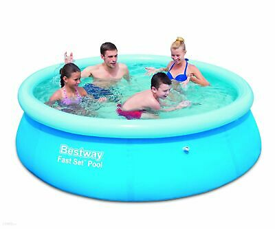 "8FT x 26"" Swimming Pool Outdoor Garden Paddling Family Inflatable Fast Set Kids"