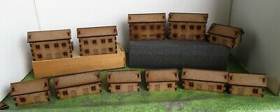 10mm Scale Village Scenery Church Houses Farms Industry factories etc laser cut