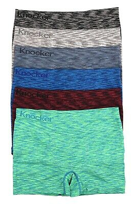 Men's 6-PACK Seamless Boxer Briefs (MS052M)