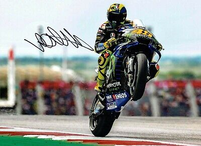 VALENTINO ROSSI Autograph 2019 SIGNED 16x12 Yamaha Photo 1 AFTAL COA VR46 Vale