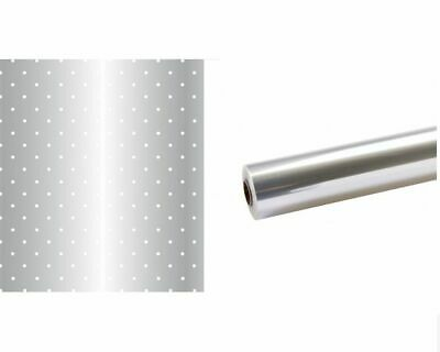 Oasis Super Eco Biodegradable Cellophane Roll - 50m x 80cm - White Dot or Clear