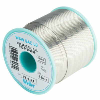 Weller T0051388399 WSW SAC L0 96.5/3/0.5 Solder Wire 0.3mm 100g