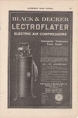 1919 Black & Decker Lectroflater Electric Air Compressor Ad /  Baltimore