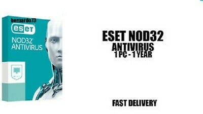 Eset NOD32 Antivirus Internet Security PC 1 Year License key Instant Delivery