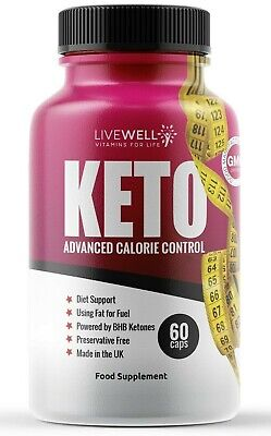 LiveWell BHB Keto - Advanced Weight Loss Supplement Pills Diet Ketosis Fat Burn