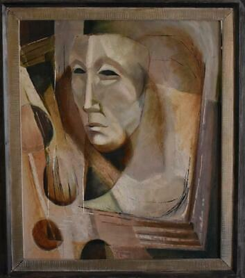 Texas Artist May White Dyer Mid Century Abstract Original Oil Painting On Board