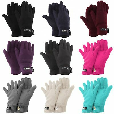 FLOSO Ladies/Womens Thinsulate Thermal Knitted Gloves (3M 40g) (GL137)