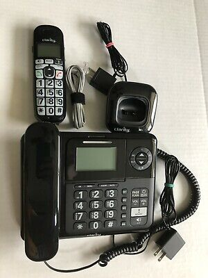 Clarity E713CC Amplified Corded//Cordless Phone Combo w// Digital Answering System