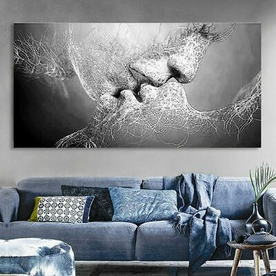 Abstract Print Kiss Poster Pictures Canvas Painting Decoration Wall