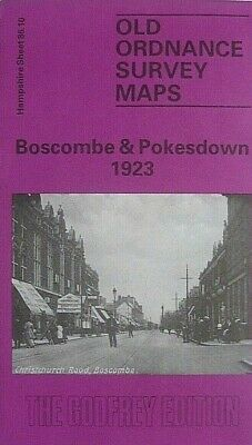 Old Ordnance Survey  Maps Boscombe & Pokesdown Hampshire 1923 Godfrey Edition