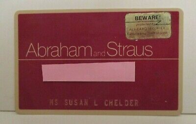 VINTAGE ABRAHAM & STRAUS DEFUNCT RETAIL DEPARTMENT STORE CHARGE CREDIT CARD 80's