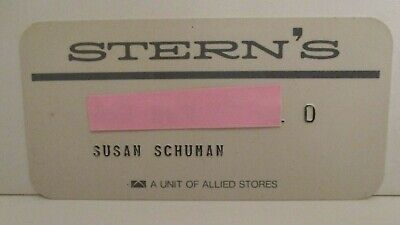 Vintage Stern's Defunct Retail Department Store Charge Credit Card 1980'S