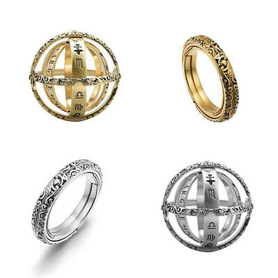 Astronomical Sphere Ball Ring Foldable Cosmic Finger Ring Band Fashion Jewelry