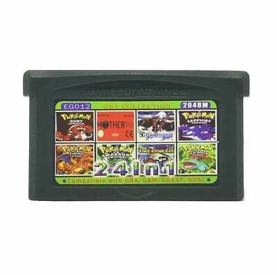 24 in 1 Gameboy Advance GBA Multicart Pokemon Castlevania Zelda Metroid Ruby