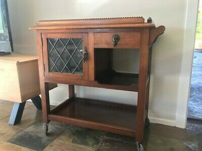 Antique drinks auto trolley cabinet