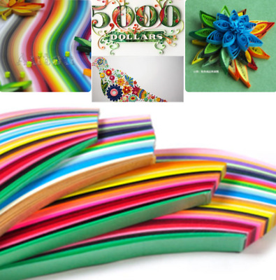 Paper Craft Art Quilling 260 Strips 26 Colors 39cm Length 3/5/7/10mm Pretty