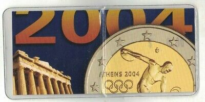 2004 Greece 2 Euro Athens Olympic Games UNC coin with folder