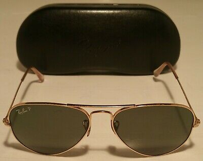 36fb70b60 NEW RAY BAN RB3514 149/83 Square Flat Gold Frame Brown Polarized ...