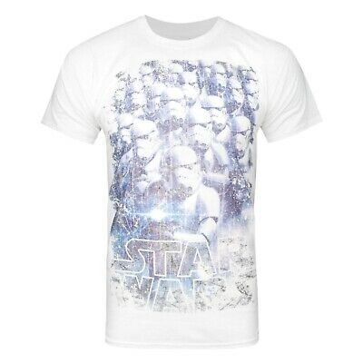 Star Wars Official Mens Distressed Storm Troopers T-Shirt (NS4748)